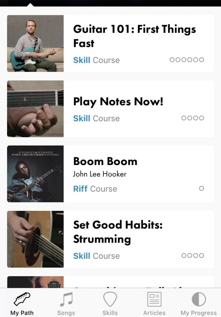 Fender Play App Homepage Image