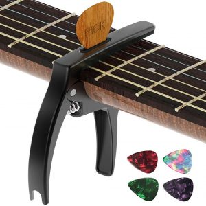 TANMUS 3in1 Guitar Capo (includes pick holder)